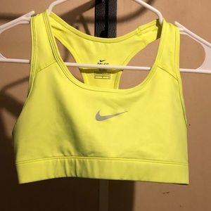 Neon green/yellow Nike Sports Bra